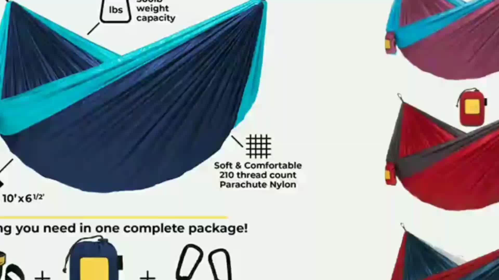 Outdoor Leisure Double 2 Person Cotton Hammocks 450lbs Ultralight Camping Hammock