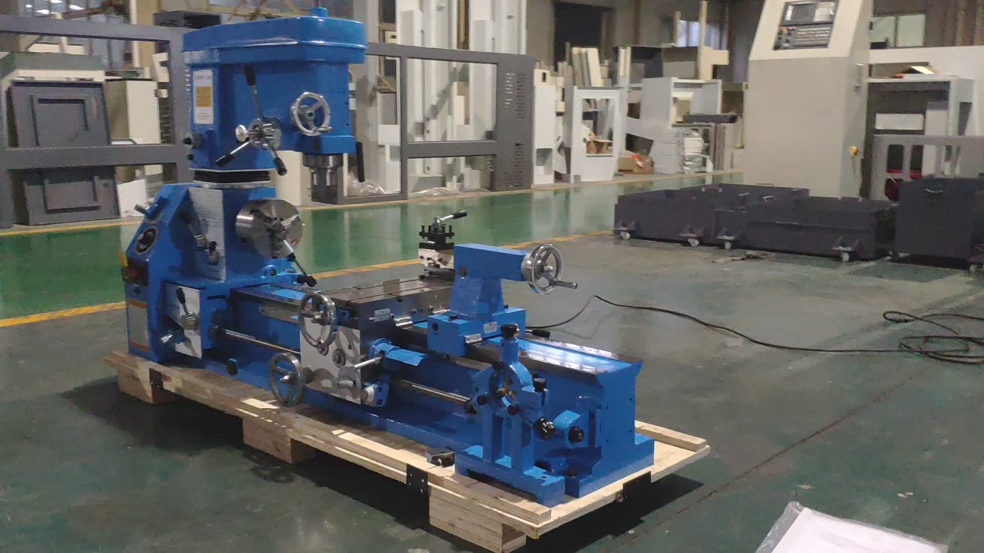G1340 Combination Drilling Milling Lathe 3 in 1 lathe mill combo machine metal lathe small Granite