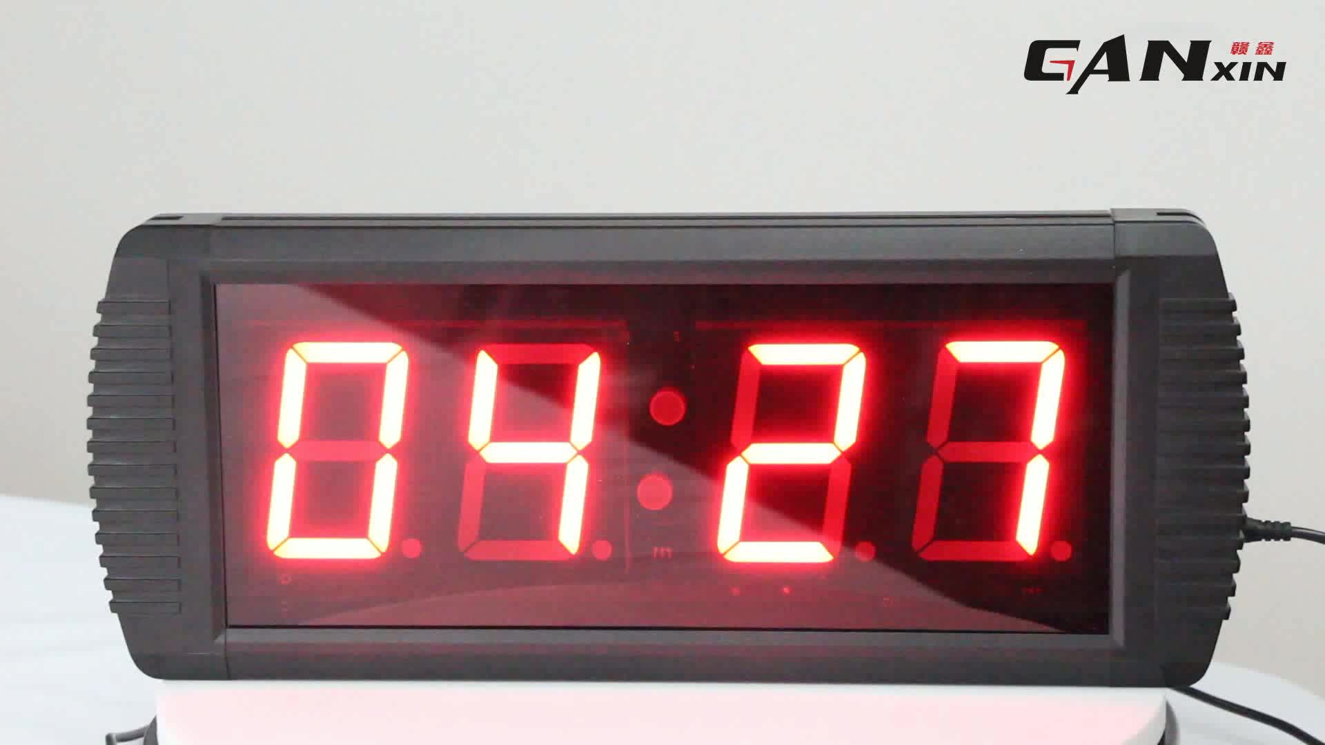 2018 Top selling programmable 4 digit LED wall mounted digital wall clock timer
