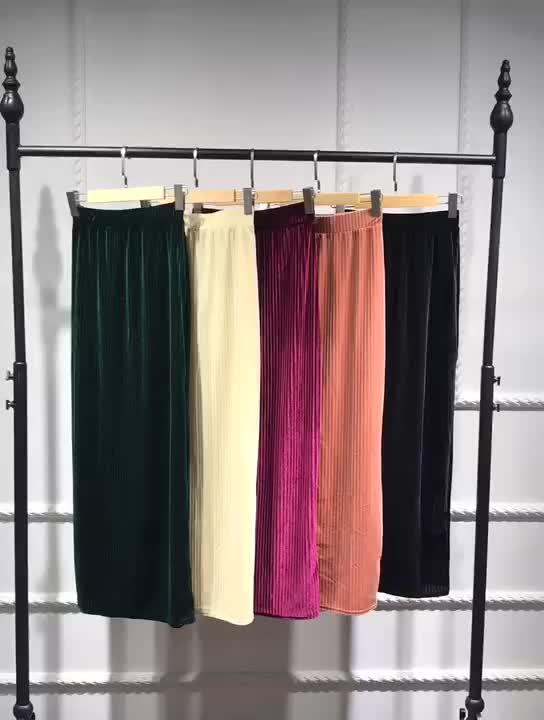 New arrival women velvet half skirts