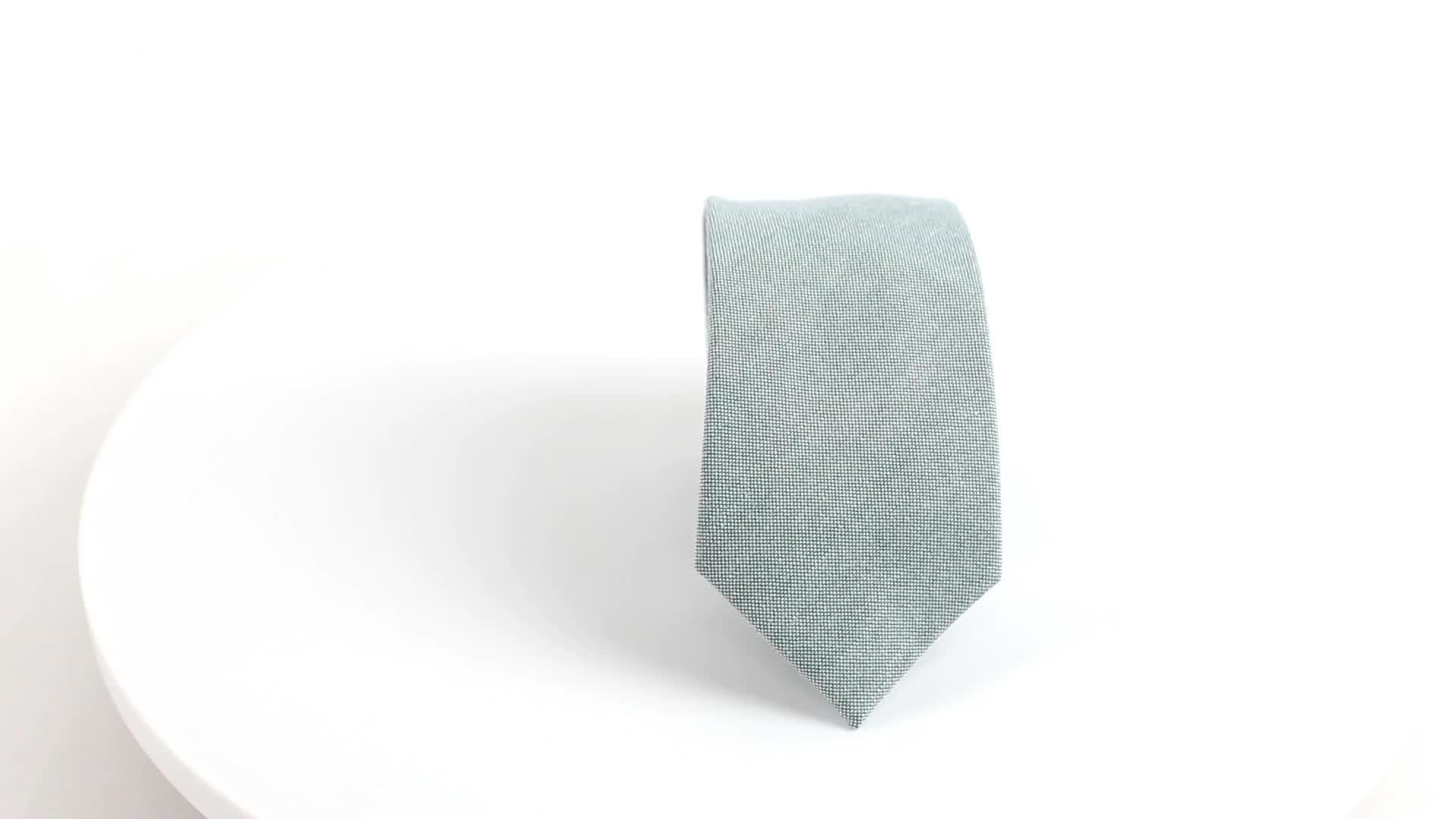 Chine Shengzhou Classique Style Unique Couleur Unie Coton Cravates En Gros
