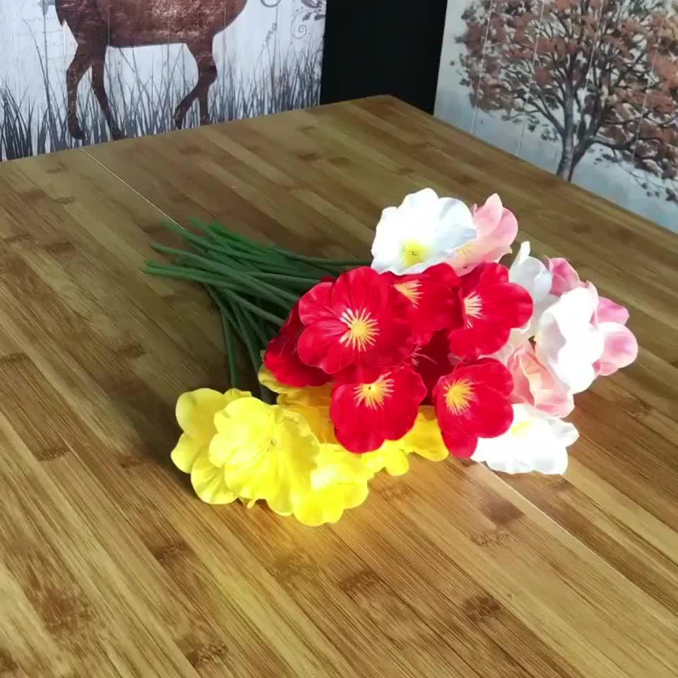 Настоящее прикосновение цветы PU Высокое качество цветок розы кукурузы Маки искусственные Anemone Свадебный букет дома Свадебные цветы
