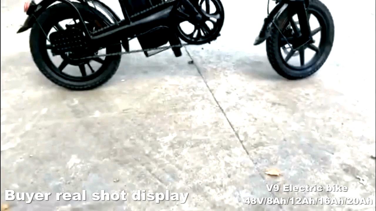 2020 새로운 가벼운 저렴한 전자 자전거 14 인치 전자 자전거 48V 8Ah 배터리 휴대용 Ebike 접이식 전기 자전거 자전거
