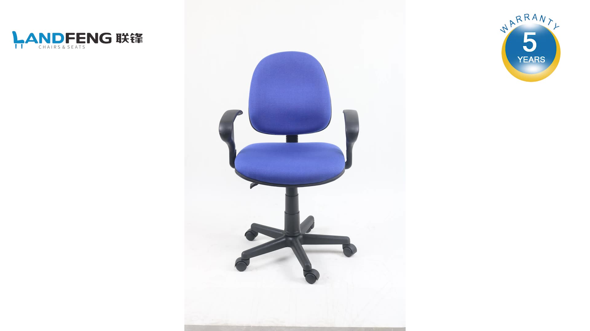 Korea modern furniture  small rotating ergohuman blue visitor round armrest office chair with wheel