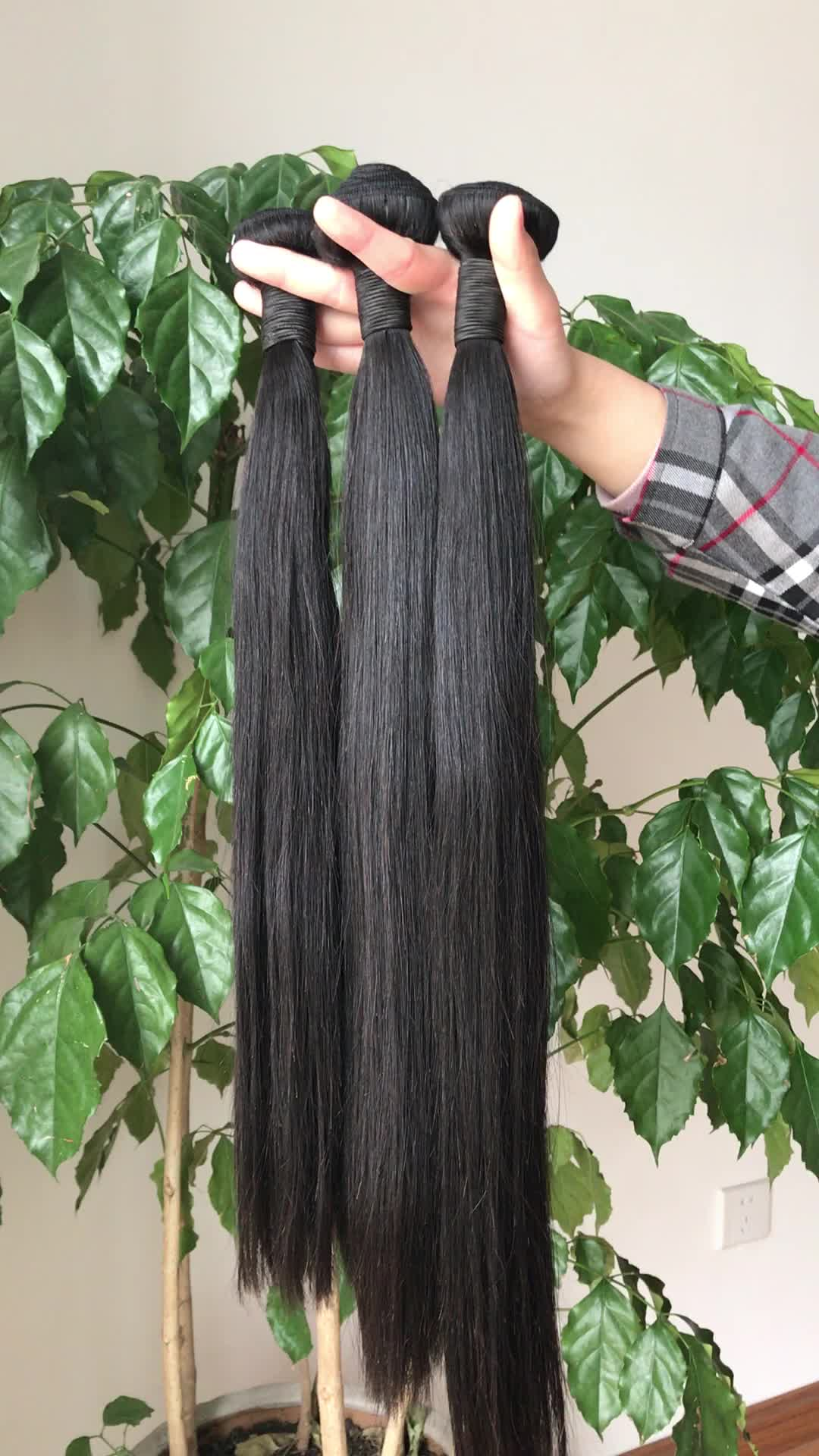 Nuovo arriva lordo Brasiliana vergine all'ingrosso dei capelli top quality colore naturale dei capelli dritti estensione dei capelli umani di 100%