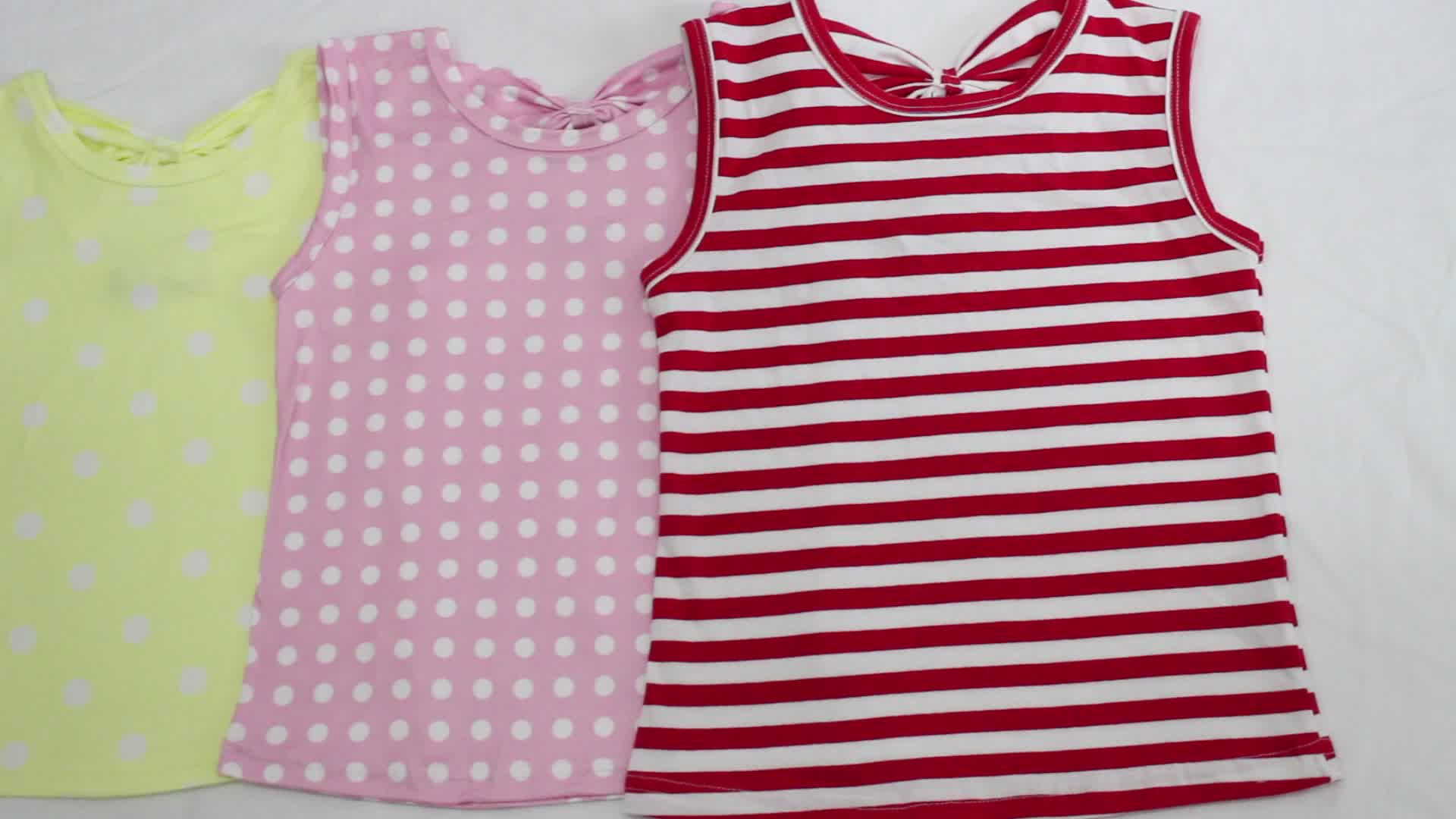 Toplu toptan % 100% pamuk kız t-shirt klasik düz üstleri ChildrenGirls butik yaz Tee üst