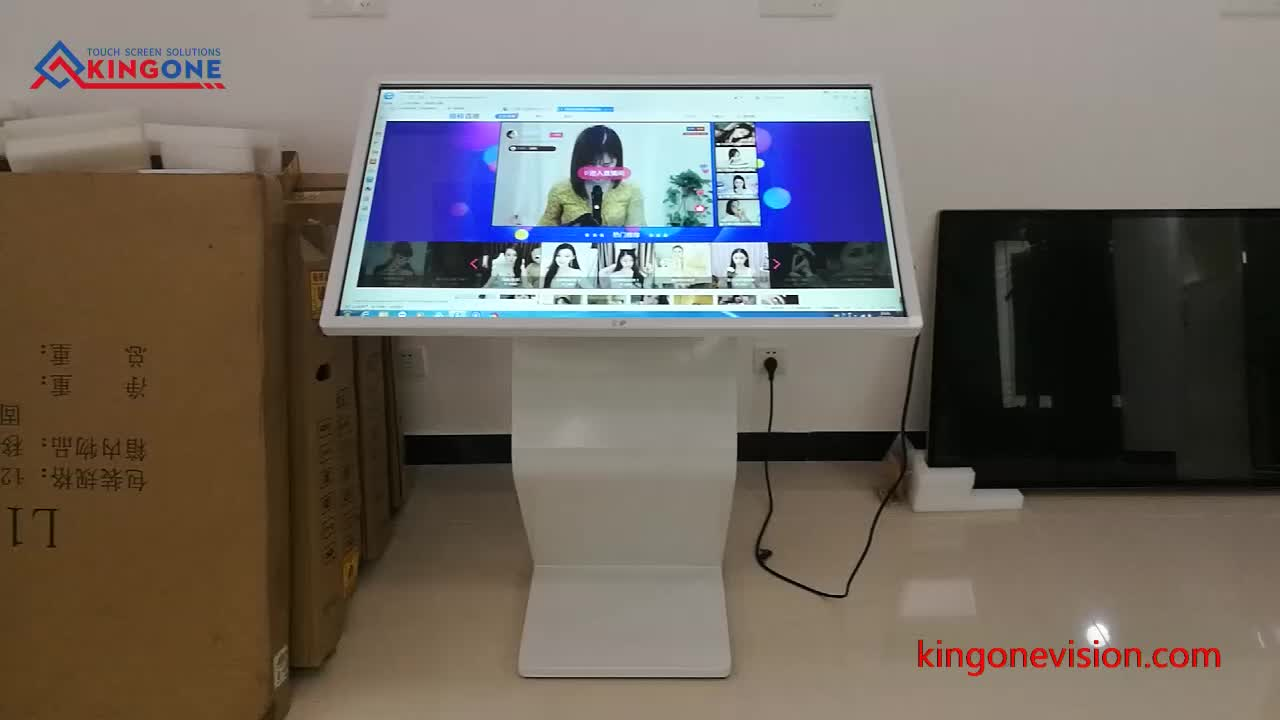 """Floor Stand Display Touch Screen 32"""" Interactive Kiosk Multitouch"""