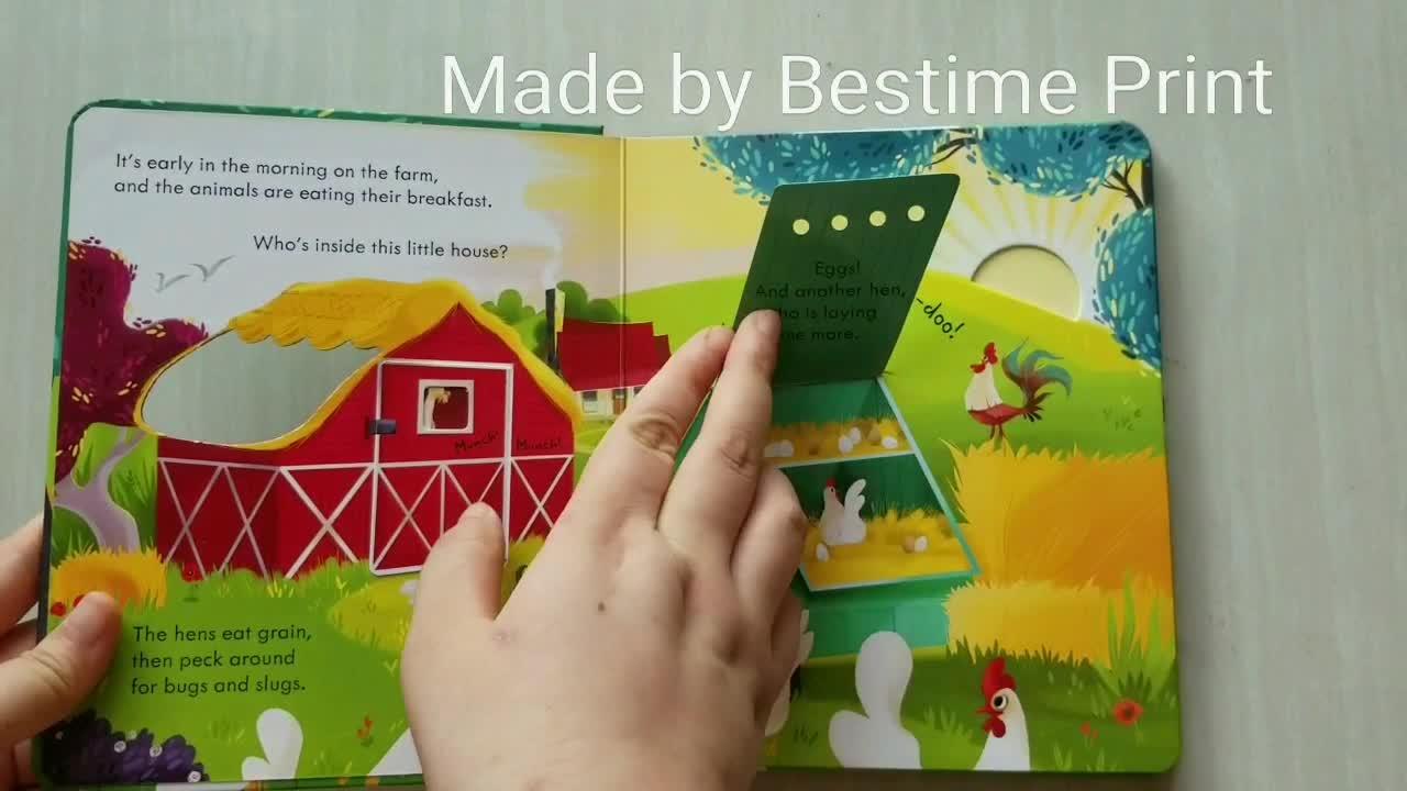 높은 품질의 아이 보드 책 인쇄 수요 서비스