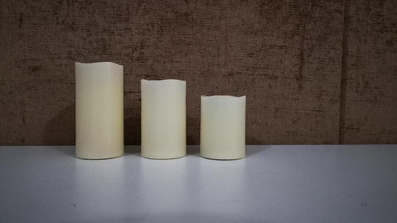 Led vela electrónica batería operada LED Tealight vela onda vela con altura diferente