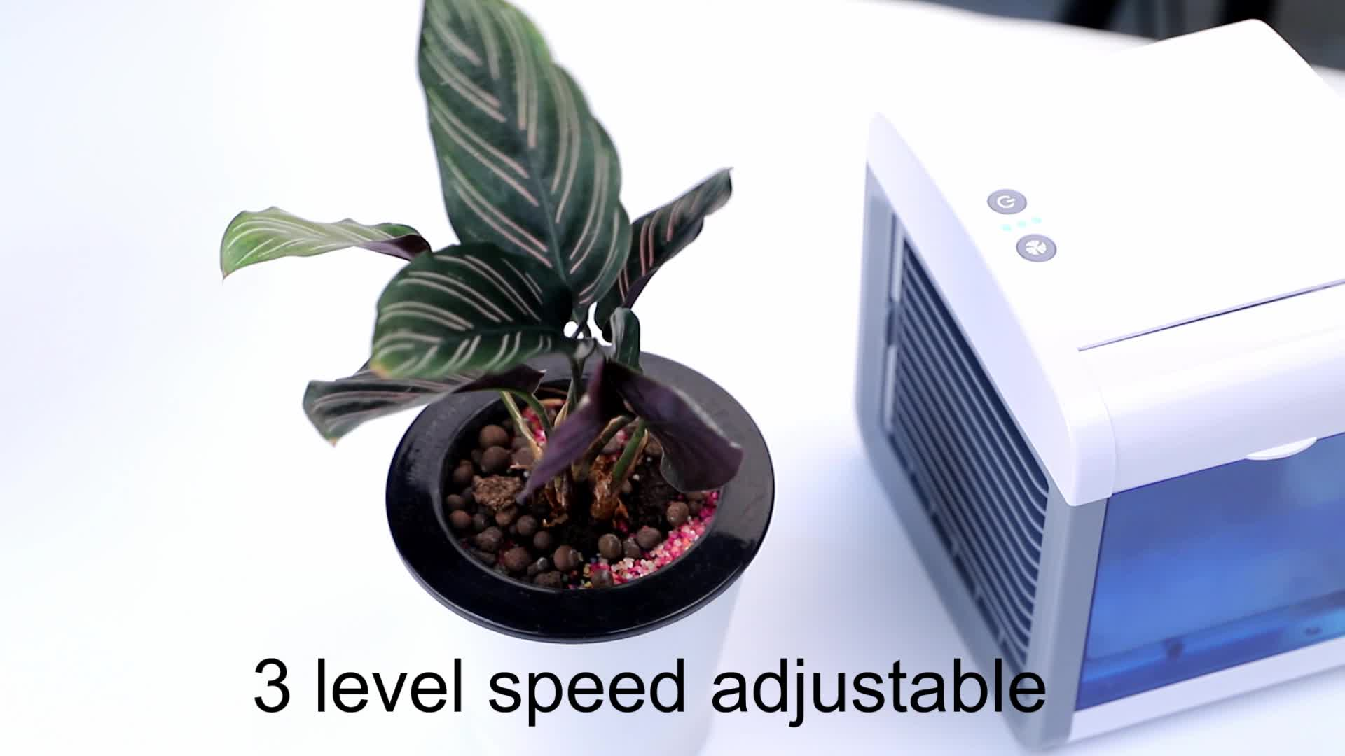 Hot sale mini USB Portable Personal Space Desk top Air Cooler Portable Air Conditioner Fan