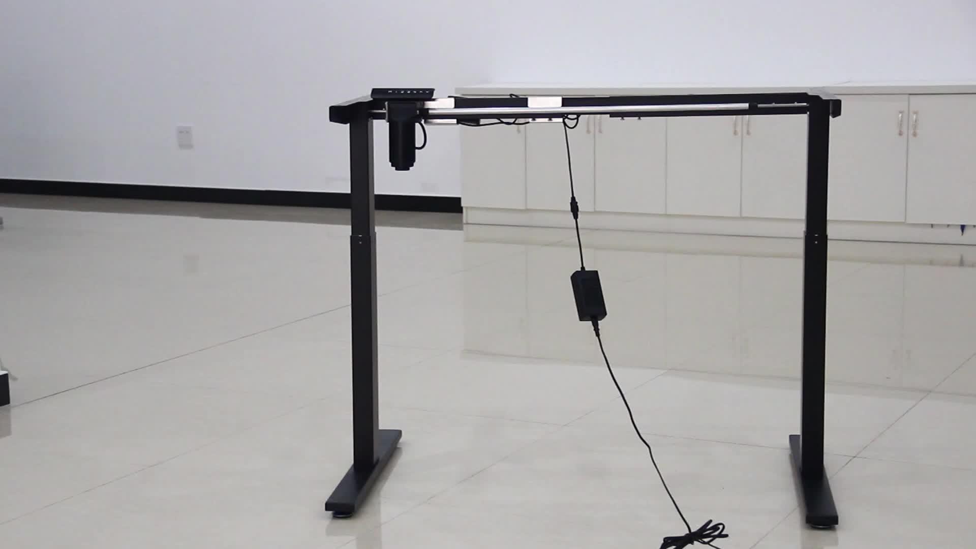 बिजली के लिए खड़े डेस्क ऊंचाई समायोज्य ऊंचाई तालिका अध्ययन डेस्क पैर बिजली फ्रेम