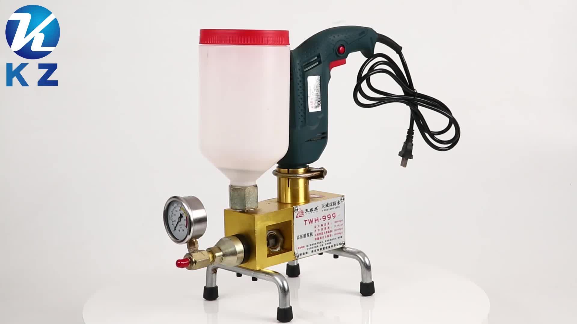Machine d'injection de ciment d'ingénierie de construction à haute pression de pompe d'injection d'unité centrale