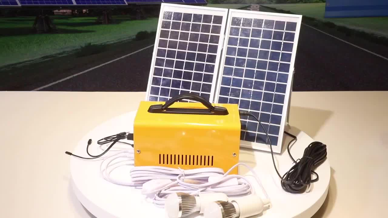LAP Dc 18v Portable Mini Project Led Solar Home Lighting System For Indoor