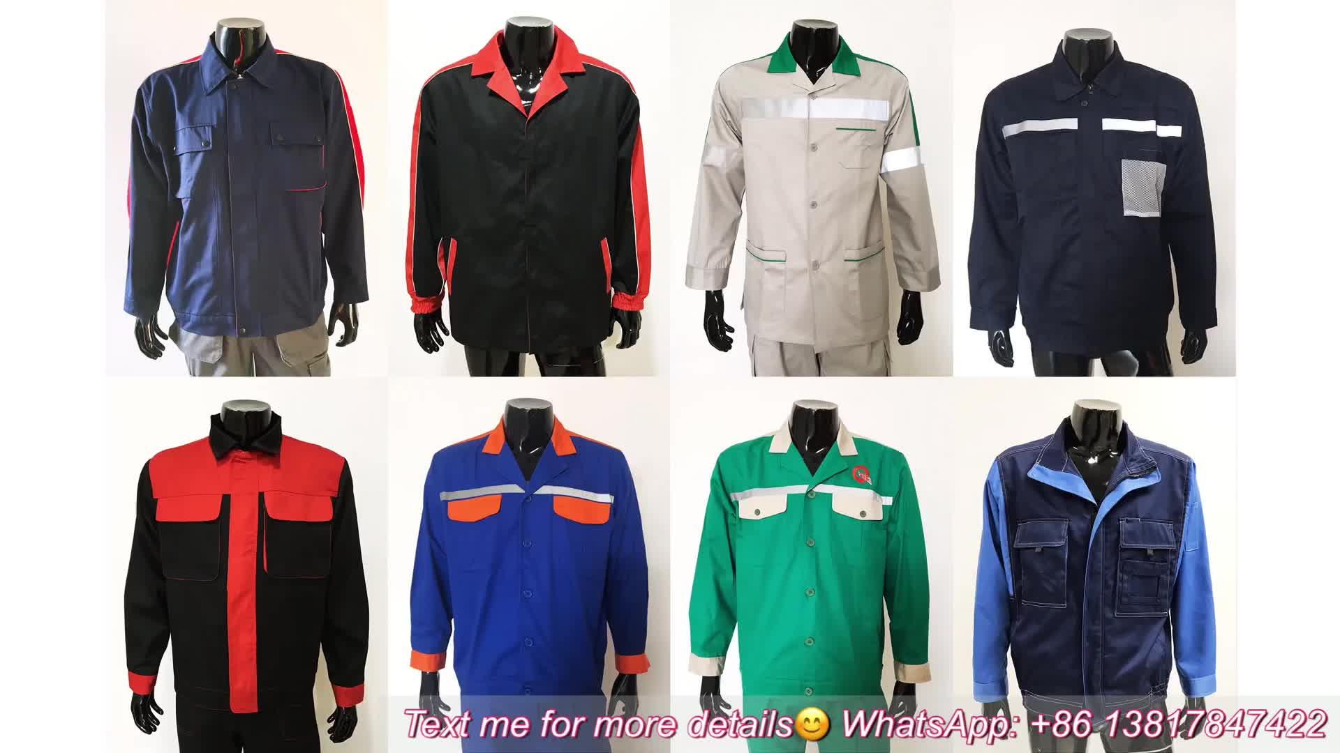 Custom Brand Logo Workwear Mechanical Work Clothes