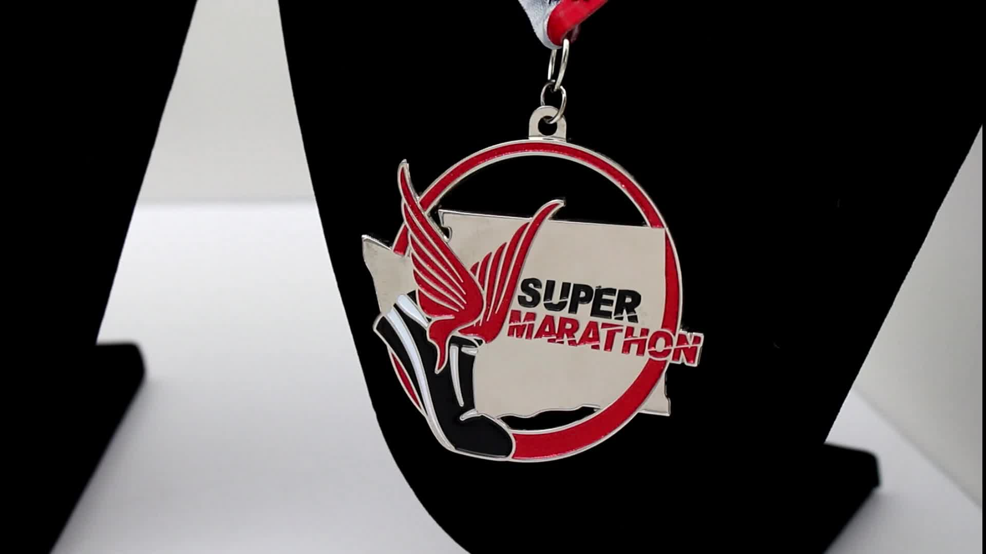 Oneway Promotional Wholesale Mascot Metal Sports Finisher Custom Marathon Miraculous Medal
