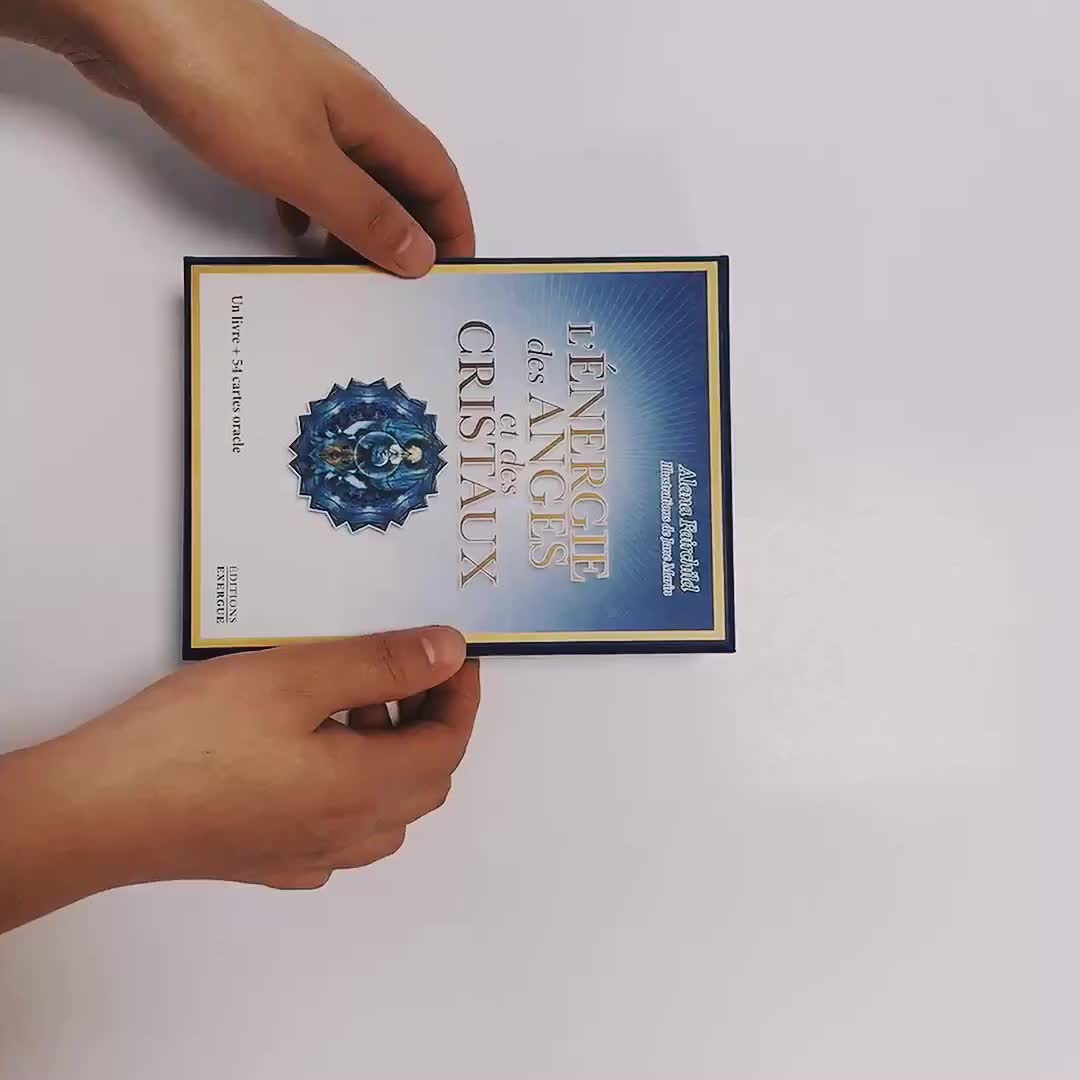 custom printed 350gsm art paper  cards with boxes wholesale