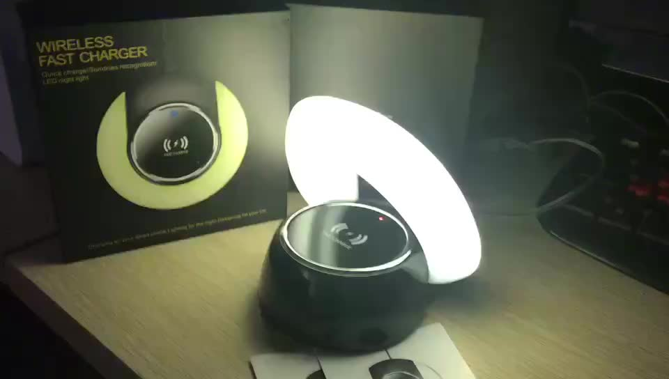 Stylish Quick Charge Wireless Charger Night Light