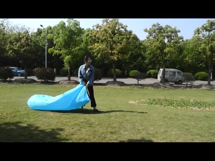 공기 침낭 게으른 의자 라운지 소파 침대 태양 풍선 캠핑 라운지