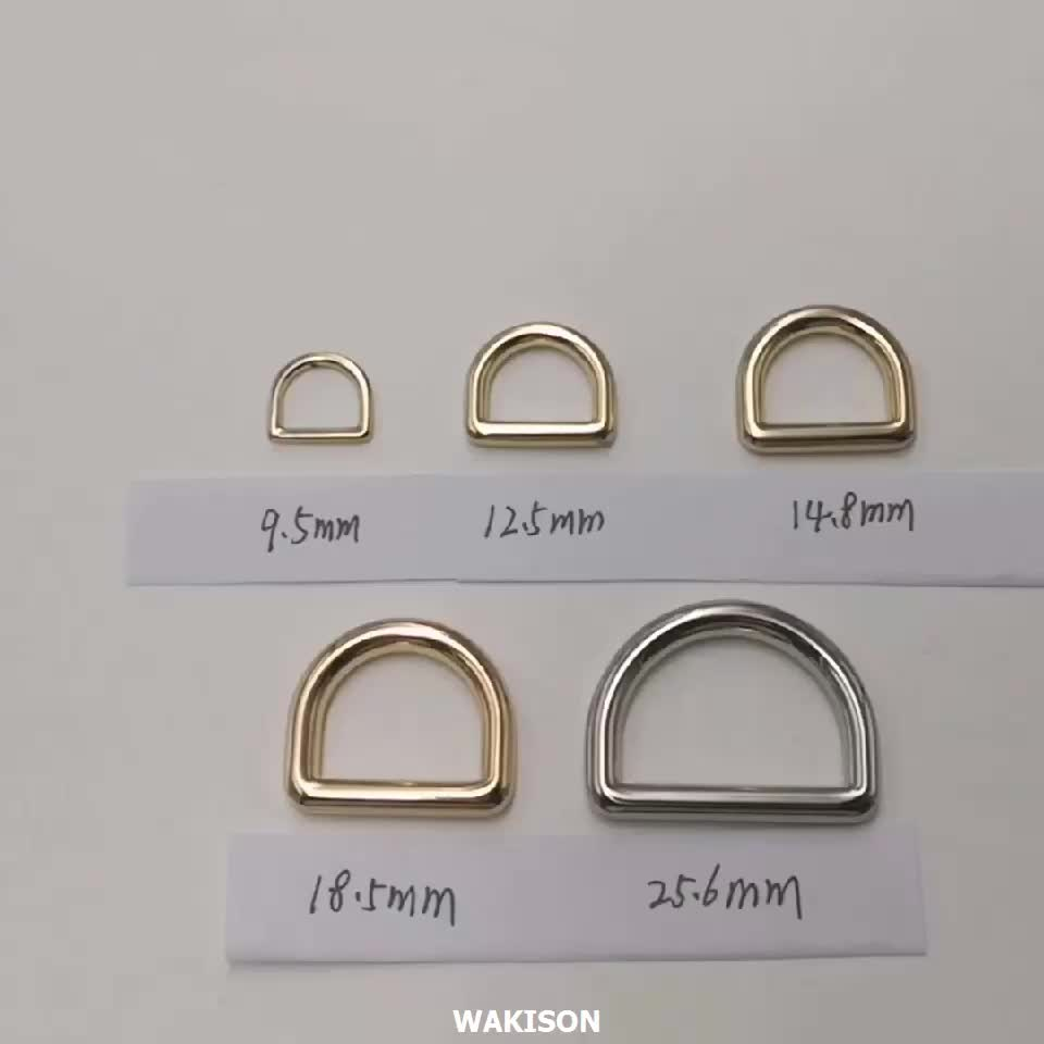 Custom Bag accessories Metal  D Ring  Buckle Ring For Straps Hardware