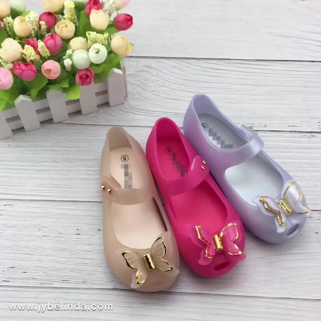Hot Sale Children Casual Wholesale Girls Cute Jelly Shoes Kids