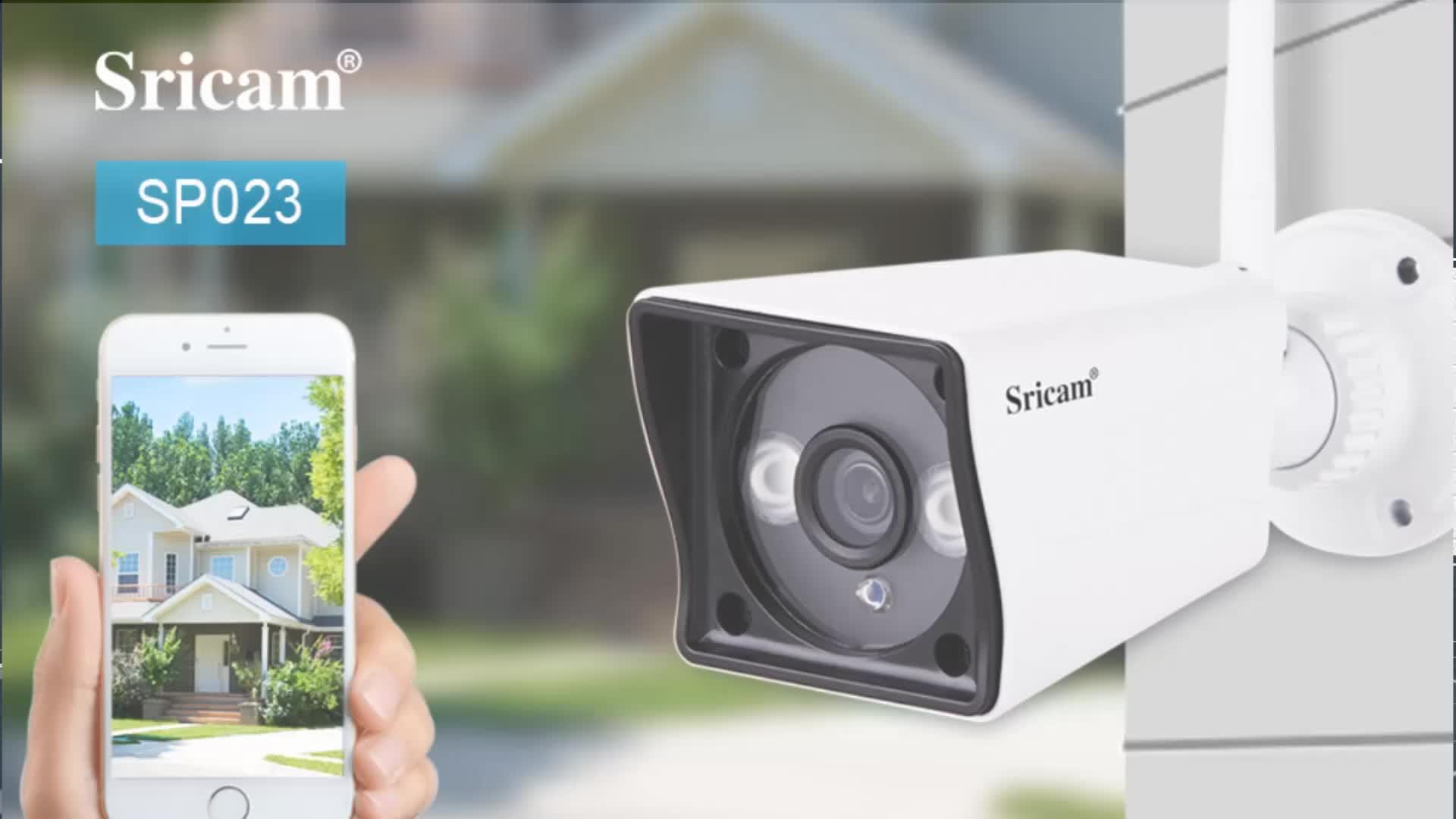 Sricam SP007 Full HD 1080 p Esterna macchina fotografica di Wifi de Telecamera di sorveglianza IP Micro Scheda SD IP Wifi della macchina fotografica de di sorveglianza 1080 p