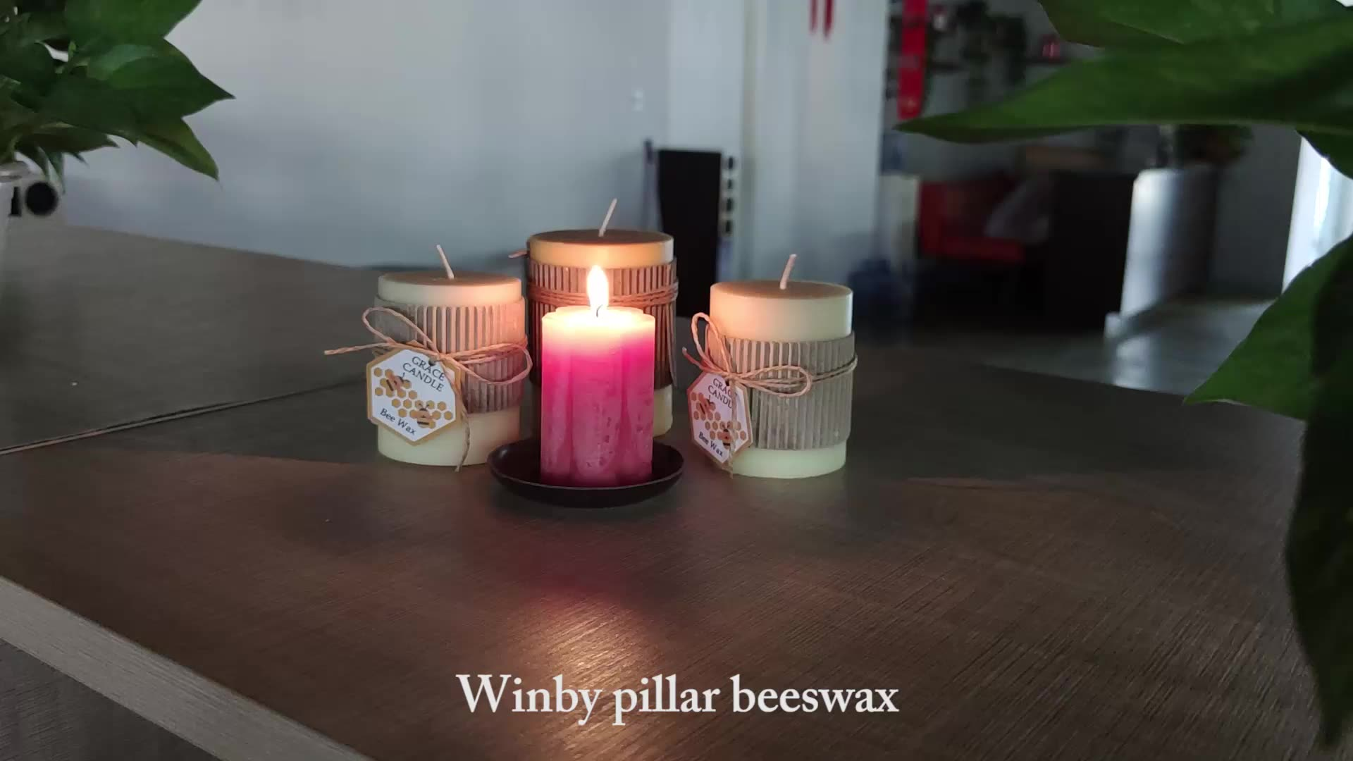 Private label aromatherapy bee wax candle