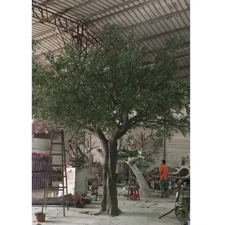 500cm height large indoor artificial olive tree plants pictures, ornamental olive tree, fiberglass large artificial tree olive