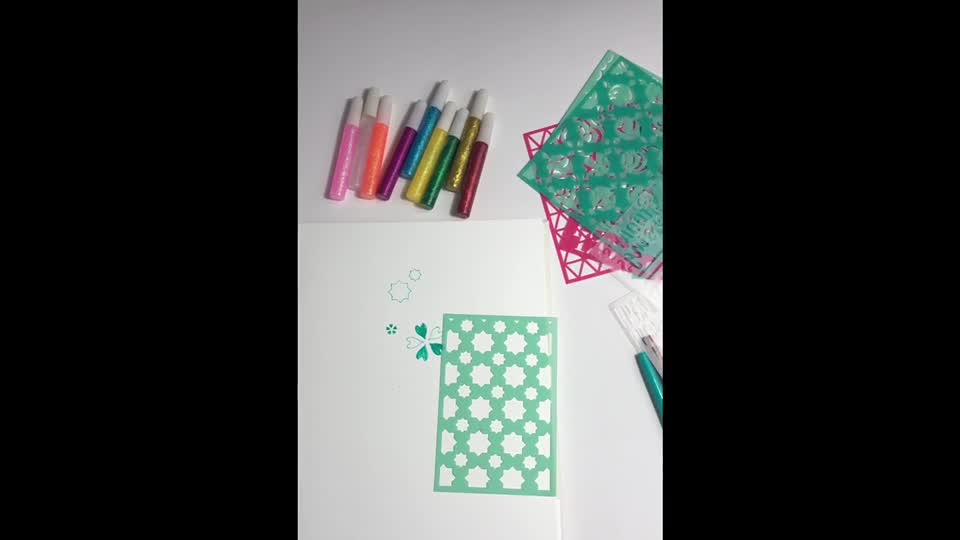Painting use stencil craft custom drawing plastic stencil for kids