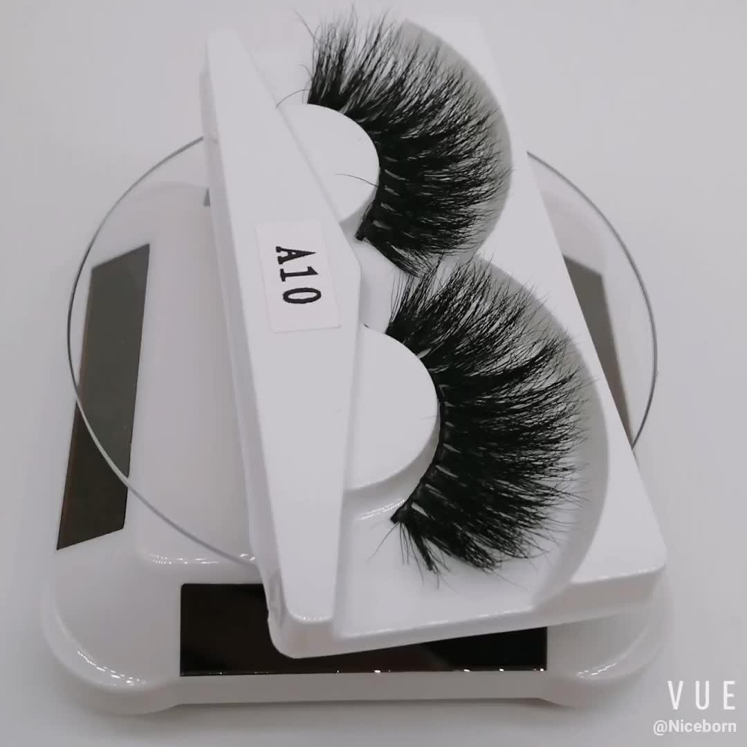 Wholesale 25mm eyelashes long length 3D Mink Eyelashes