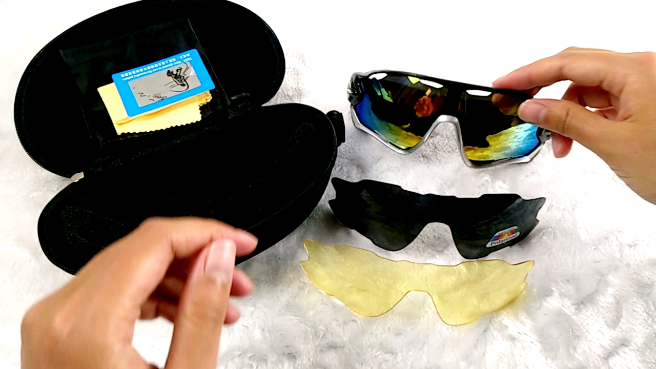 Free Sample 3 Sets Of Lens Ys9270 Outdoor Photochromic Cycling Sunglasses Sports Polarized