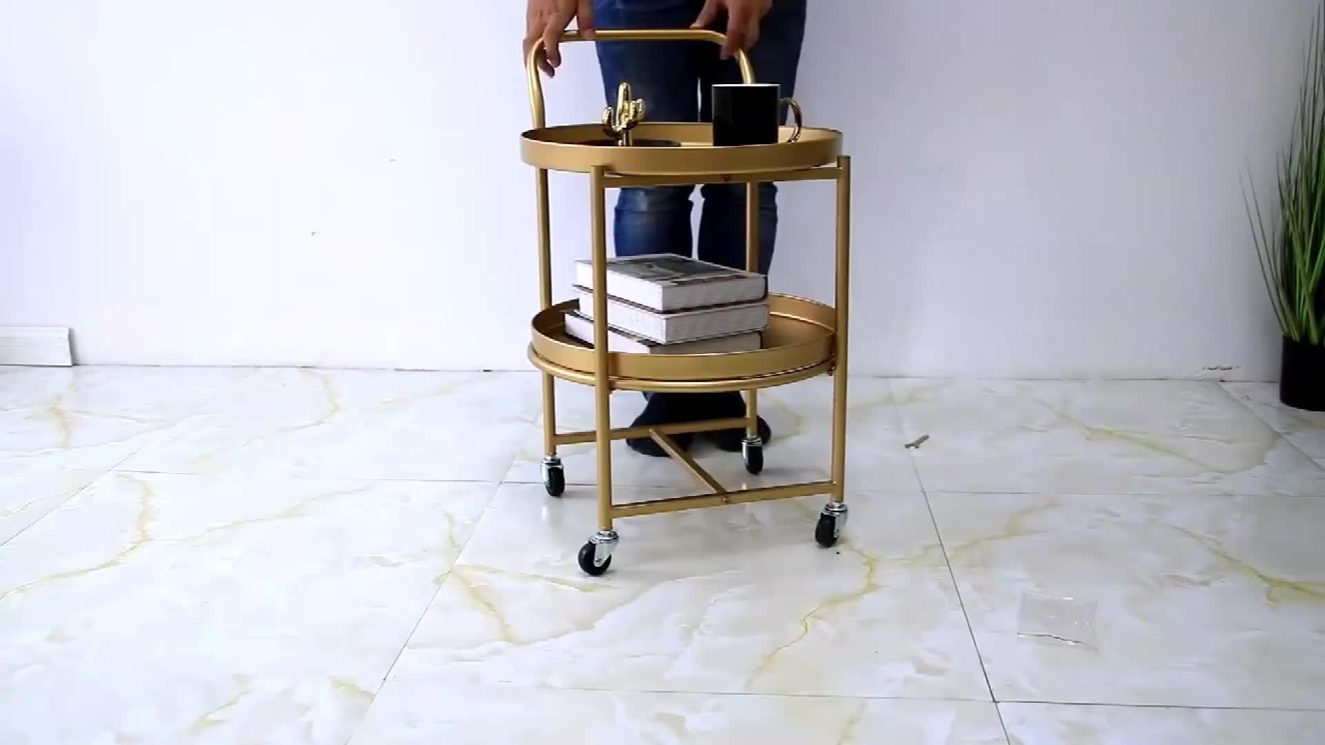 Criativo Simples Carrinho de Rodas Quarto Sala de visitas Home Mesa de Café Decoração Da Casa