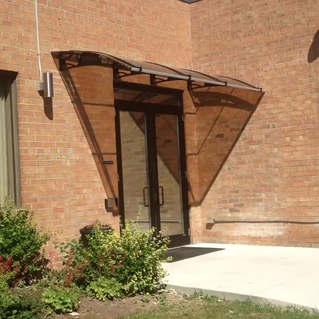 Modernes design aluminium außen polycarbonat solide blatt dach markisen