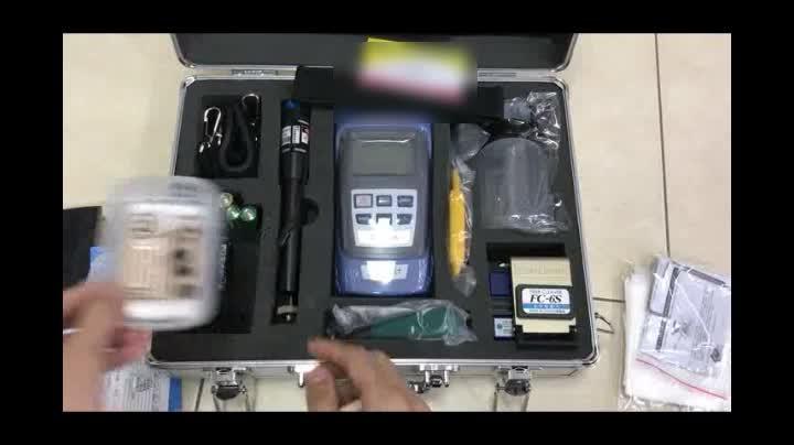 Fibre Optique FTTH Boîte À Outils avec Compteur De Puissance Optique et Localisateur De Défauts Visuels et Fendoir De Fiber de haute qualité
