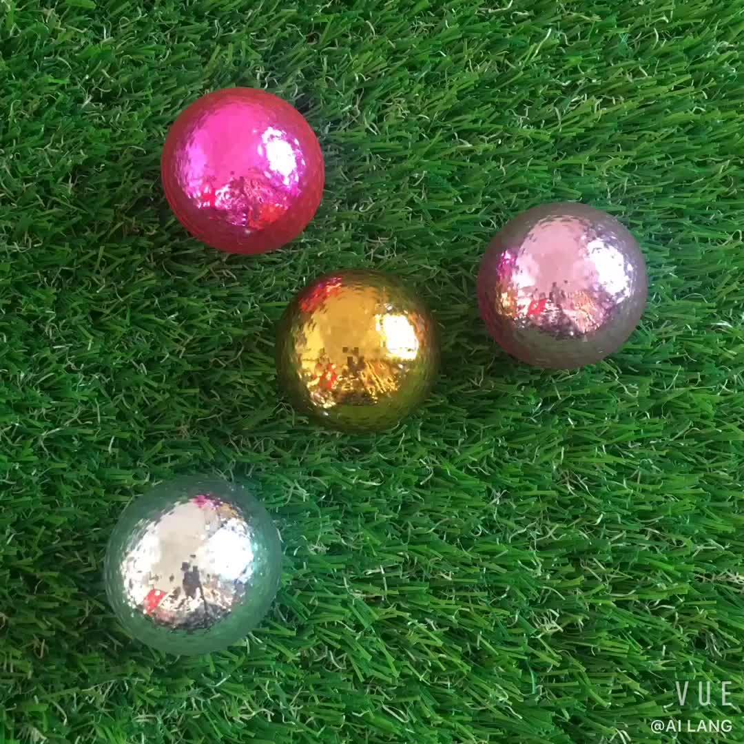 Super Qualidade de Duas Peças Bola torneio de Golfe Bolas de Golfe com 2 camada de Ouro como Presente