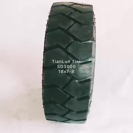 Tire factory in china industrial small pneumatic forklift tire 18x7-8