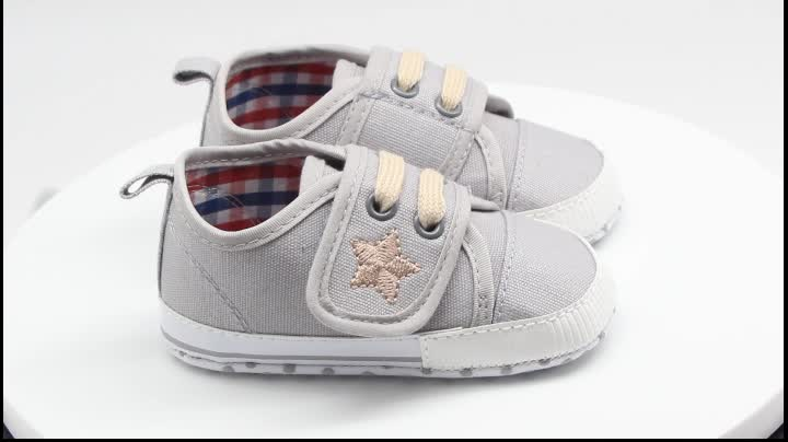 New arrival high quality canvas boy baby toddler shoes