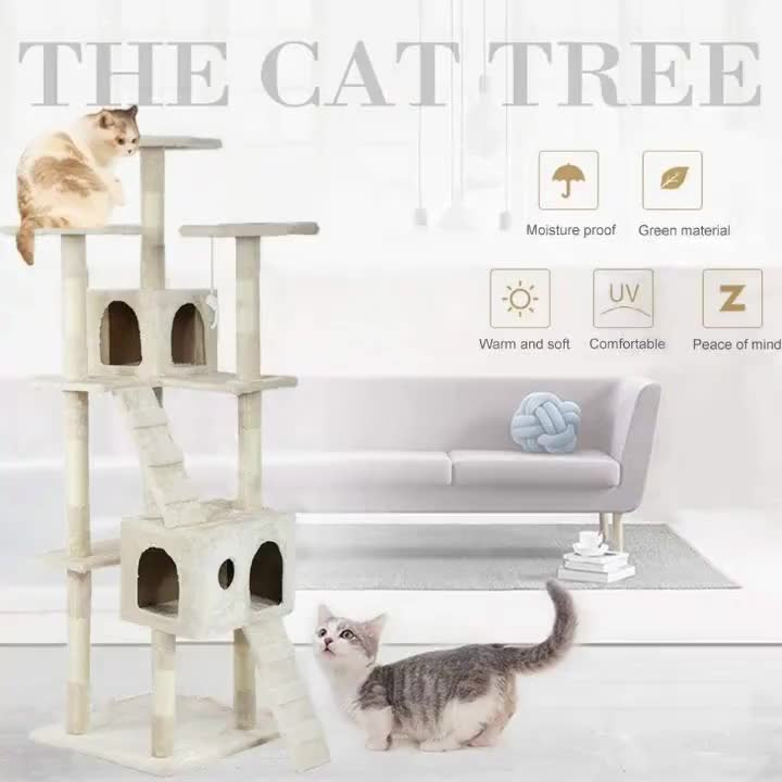 Speedypet  Wood Pet condo  Furniture  Cat  Scratcher  Post Tower House  Cat Tree  for Large Cats