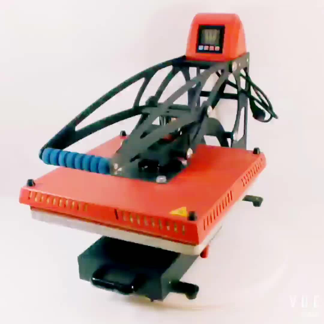 Magnetic auto-open heat press new design  high pressure clamshell machine