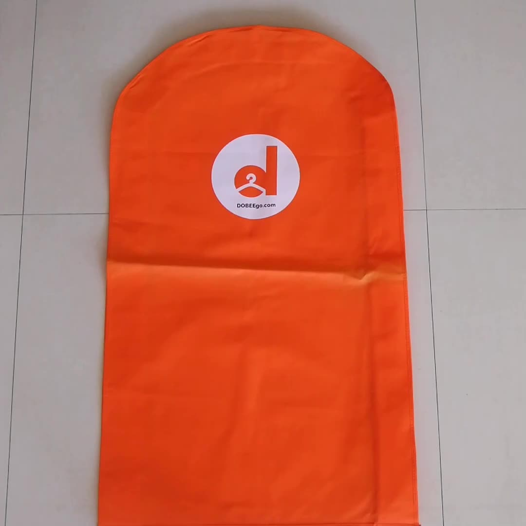 high quality wholesale recycled non woven garment zipper bag