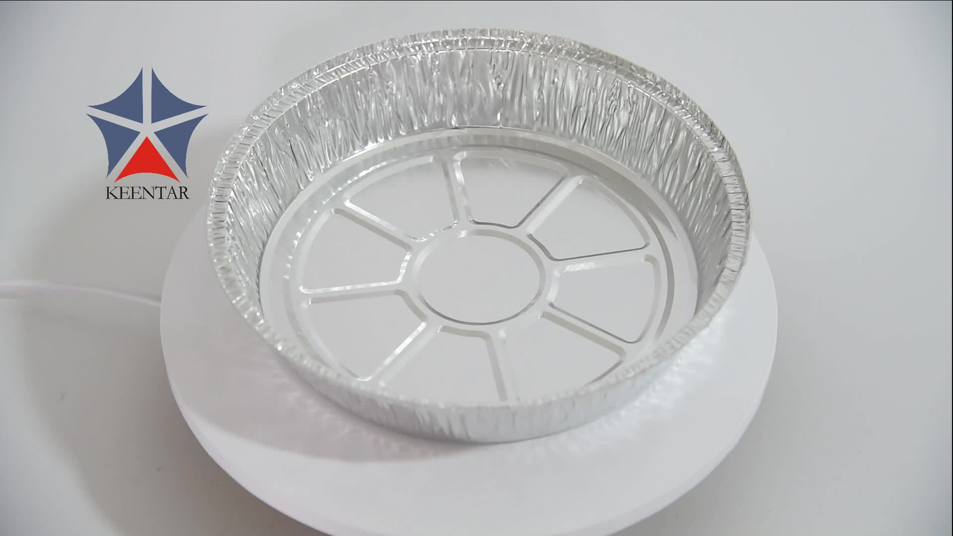 720ml Custom Disposable Round Aluminum Foil Pan With Lids,Pizza Baking Pan