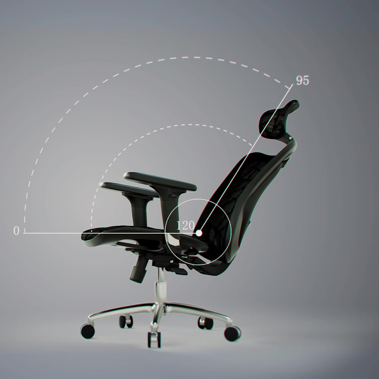 High tech adjustable office furniture set black high back luxury executive office chair