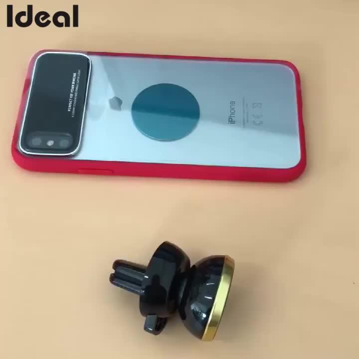 Fuente de la fábrica de ventilación de aire de coche 360 grados magnético soporte del teléfono celular para Samsung soporte