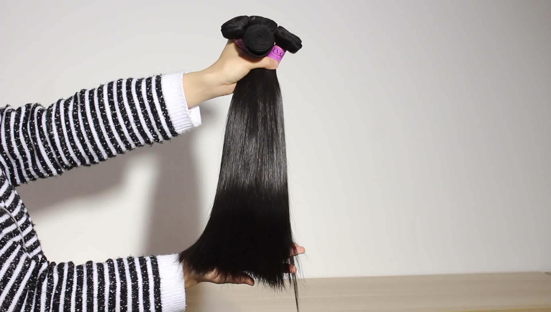 Yvonne grau 9a vison top cutícula virgem crua alinhado pacote de cabelo brasileiro