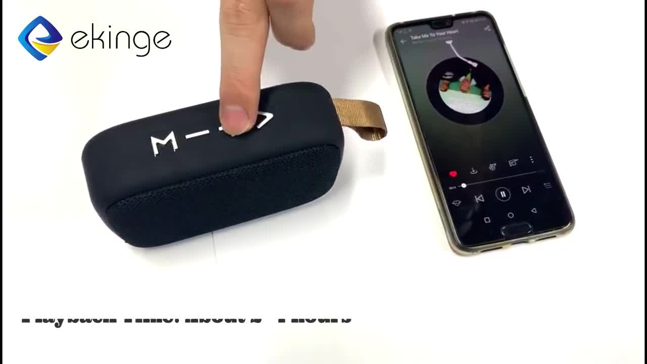 Ekinge Fabric Bluetooth BT Speaker, Mini Cloth Cover Grill Mesh Wireless Speaker for Tablet/iPhone/Macbook/MP3 and more