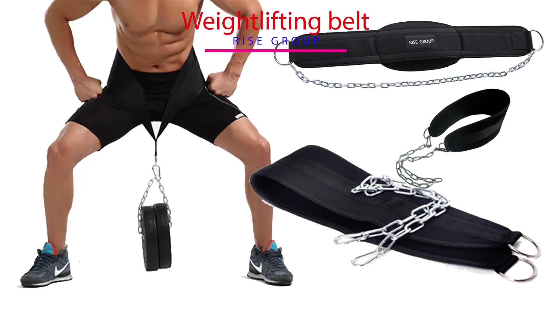 Custom Pull-Up Riem Gewogen Dip Riem met Ketting Dubbele D-ring Gewichtheffen Rugondersteuning Strap Home Gym Apparatuur Taille riem