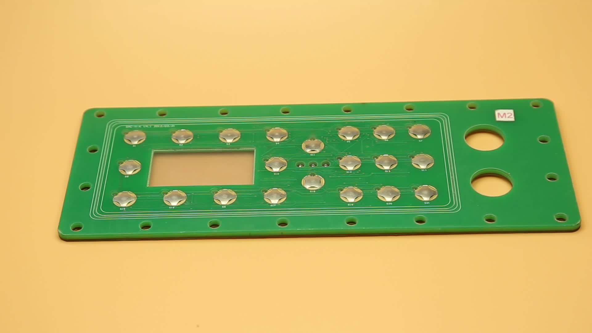 custom prototype flexible overlay mount membrane numeric keypad