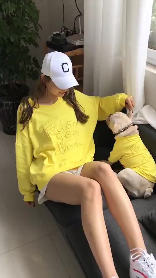 Factory Pet Dog accessories chic fashion matching dog and owner clothes sports style cotton dog clothes matching owners t shirt