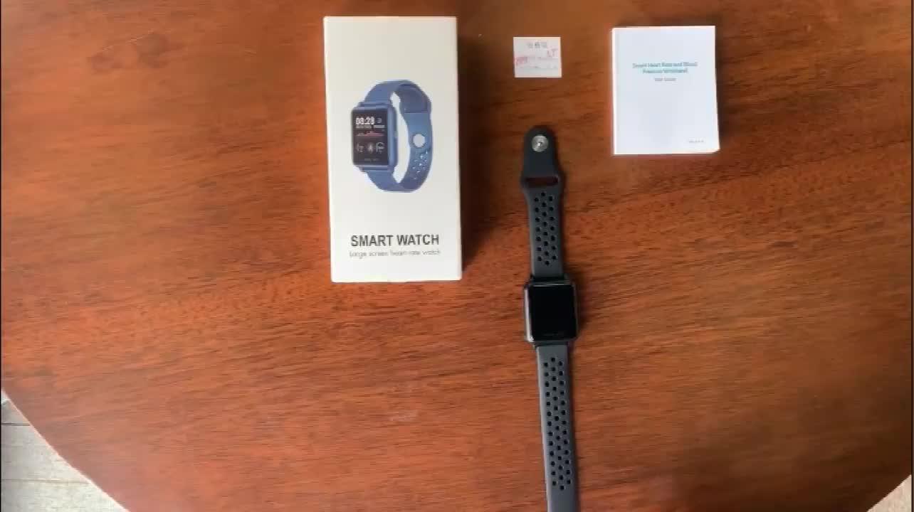 Montre intelligente numérique Sport femme Silicone Fitness écran tactile marque privée classique noir surveillance de la tension artérielle