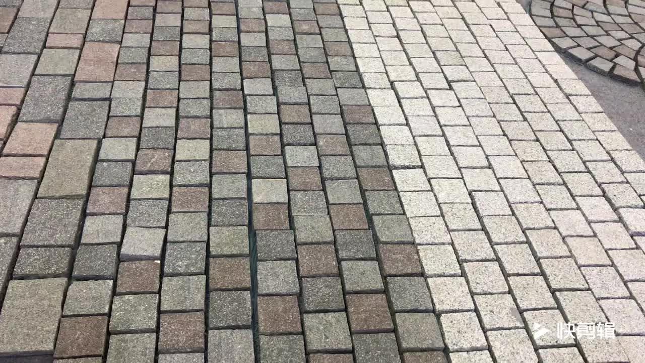 Newstar paralelepípedos malha inflamado pavers paralelepípedos de granito para a venda, folha de paralelepípedos de basalto negro