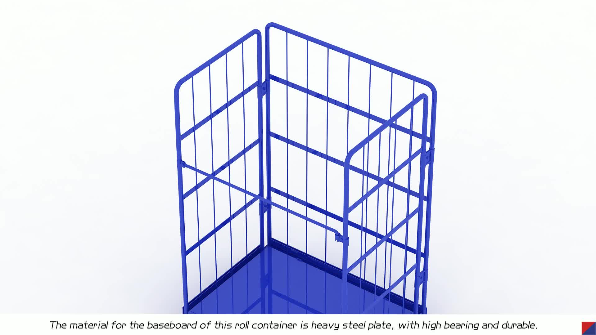 Security Demountable Nestable Roll Container Trolley